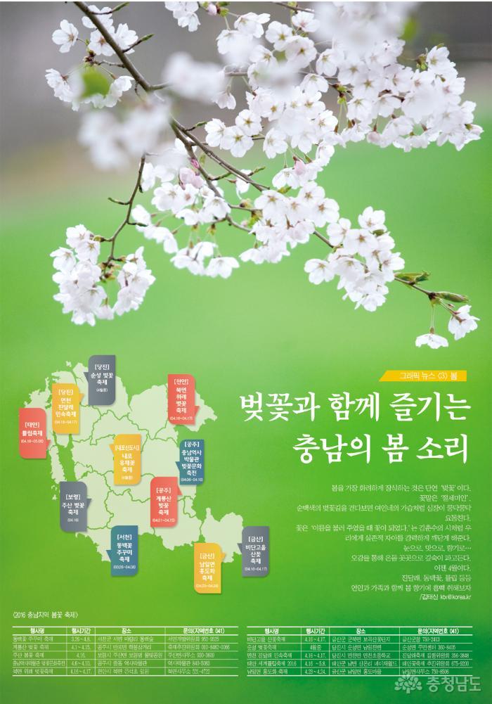 벚꽃과 함께 즐기는 충남의 봄 소리