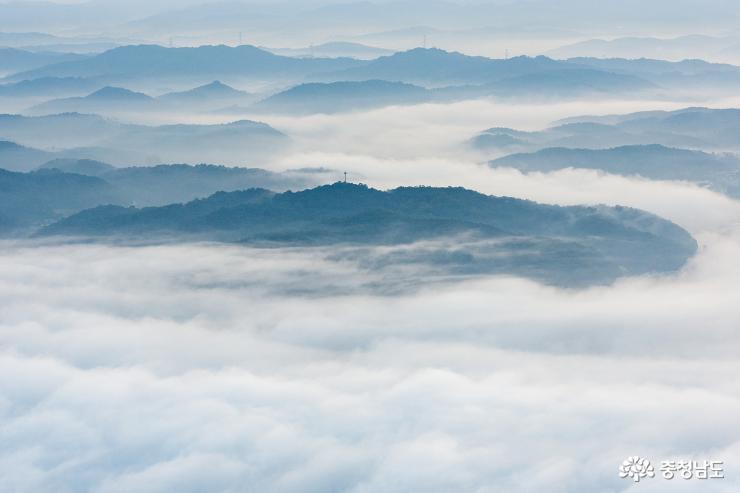 예산 봉수산의 몽환적 풍경