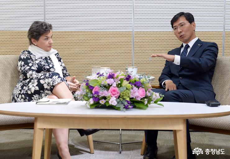 파리협약 주역과 '기후변화 대응' 논의