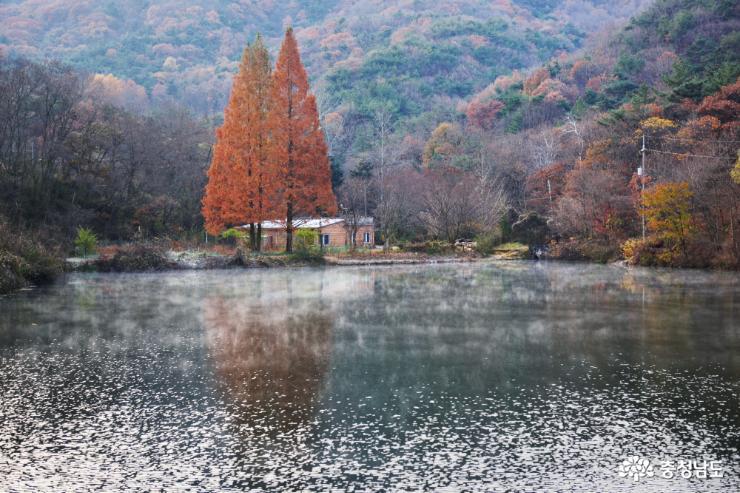 송곡저수지의 늦가을 풍경