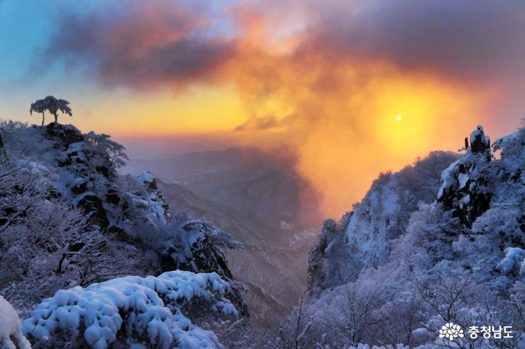 아름다운 '눈의 나라' 대둔산