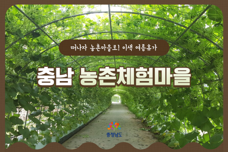 [카드뉴스]올 여름 휴가는 충남 농촌체험마을로