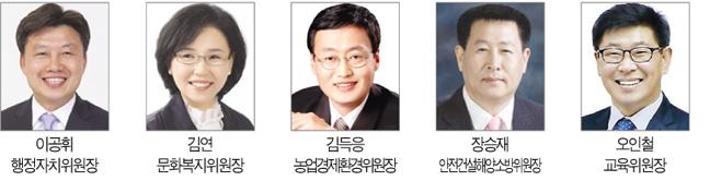 제11대 도의회 전반기 5개 상임위원장 선출