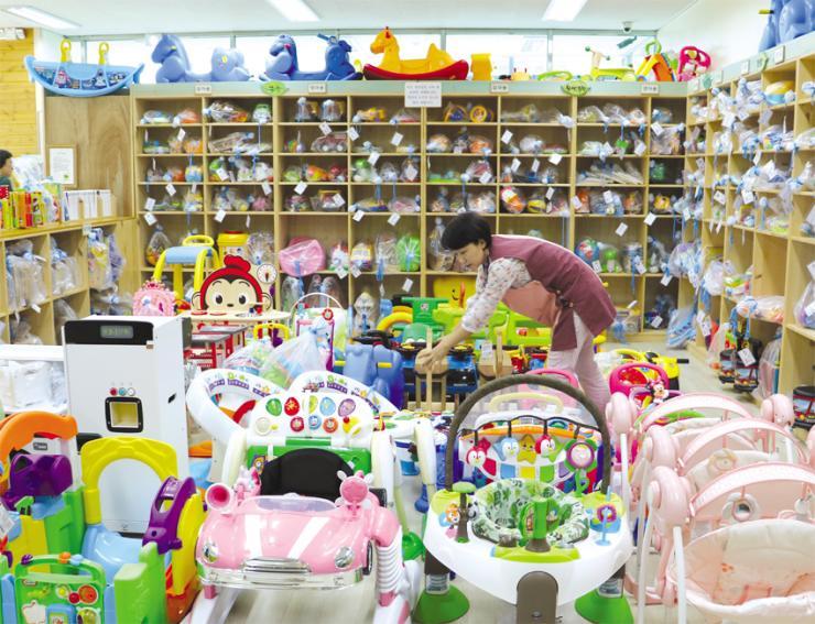 키움노리에서 구비하고 있는 장난감들.