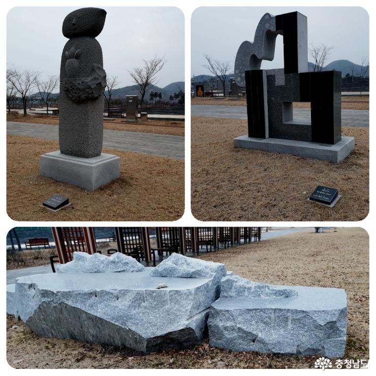 조각 작품들