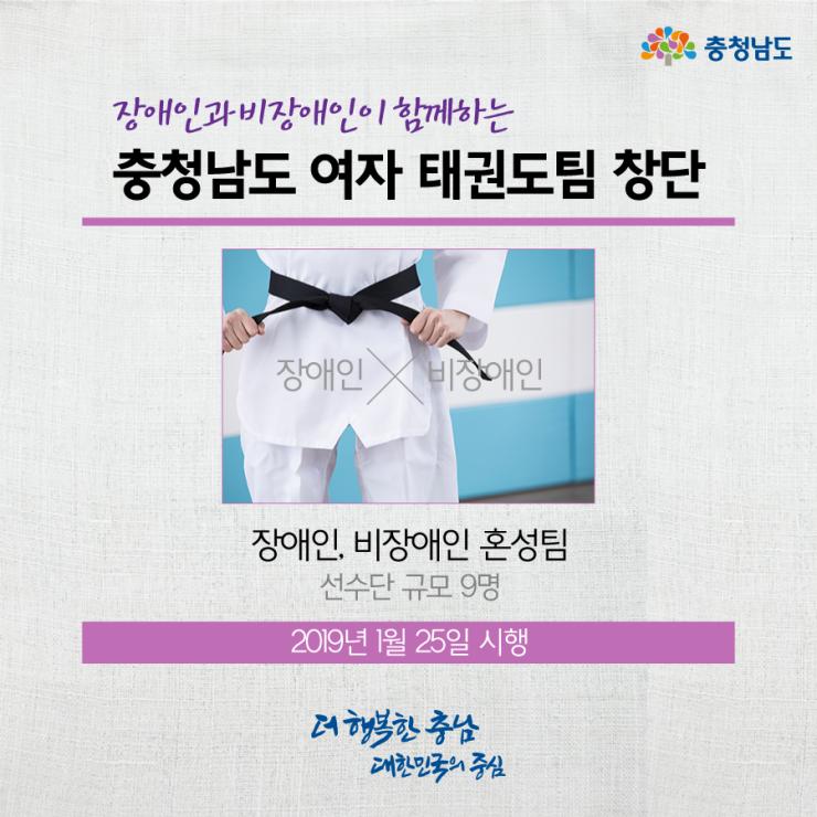 충청남도 여자 태권도팀 창단