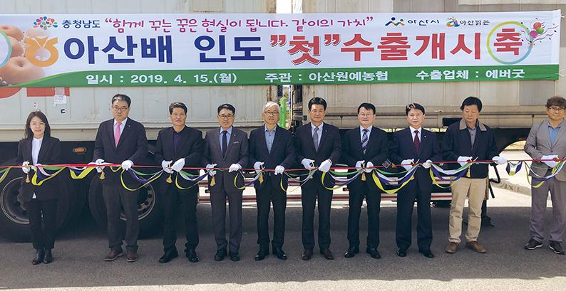 달콤시원 충남 배, 13억 인도인 '입맛 저격'
