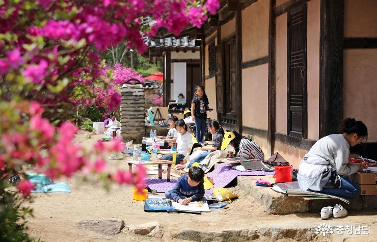 계룡시, 제5회 사계고택 어린이 사생대회 성황리에 마무리