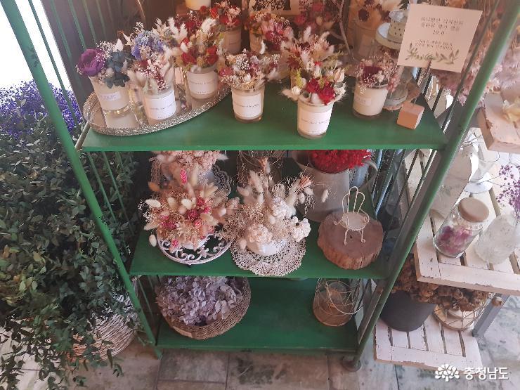 개화예술공원, 꽃으로 가득찬 카페 사진