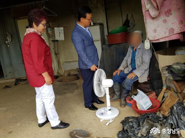 홍성은 지금 폭염대비 마을복지 가동 중, '바쁘다 바빠'!