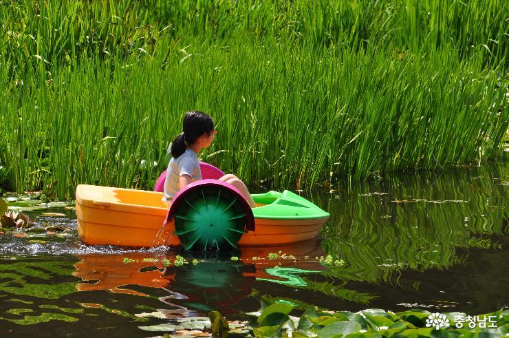 작은 배 타는 소녀
