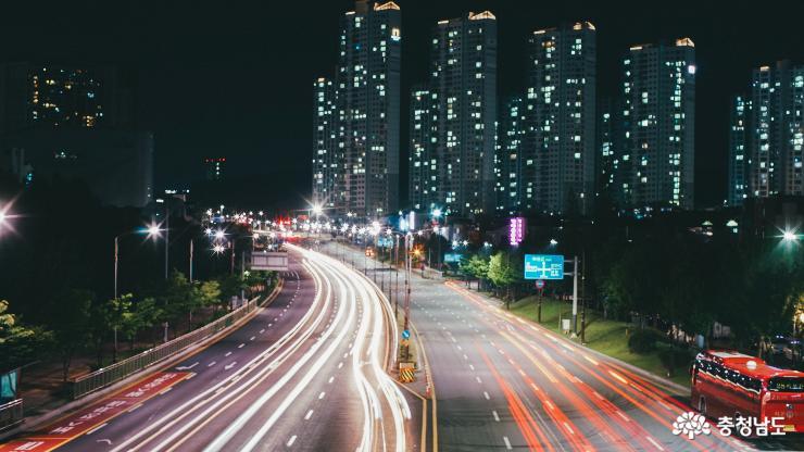 시원한 밤길 산책, 야경뷰가 좋은 '원형육교' 사진