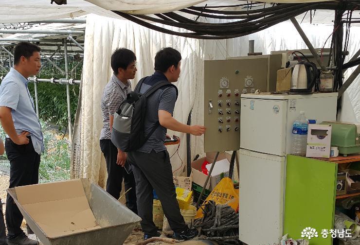 여름철 농업시설물 전기 화재 예방 점검