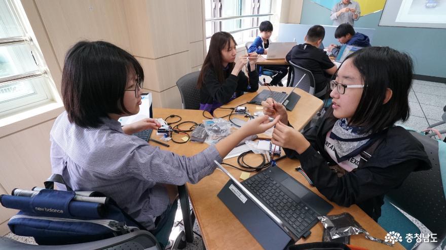 충남소프트웨어교육체험센터 학생 체험 운영 개시 1