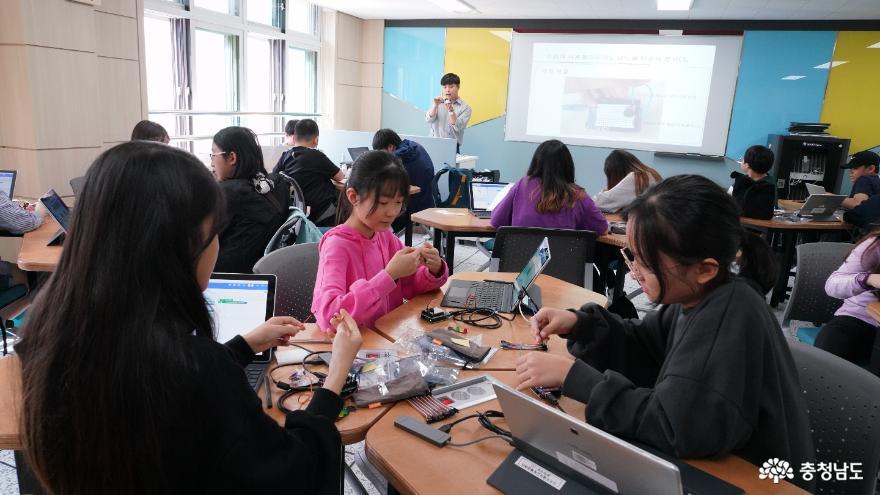 충남소프트웨어교육체험센터 학생 체험 운영 개시 2