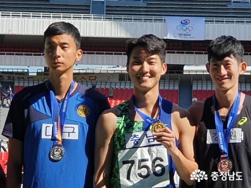 서천군청 육상팀 우상혁, 전국체전 높이뛰기 2연패 달성