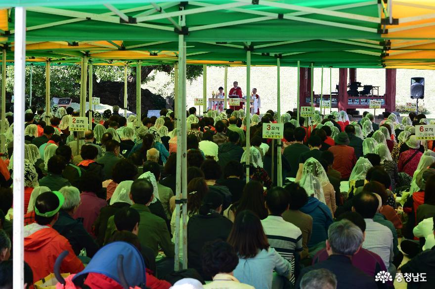 천주교의 성지 홍성군, 지난 주말 순례객 850명 찾아 1