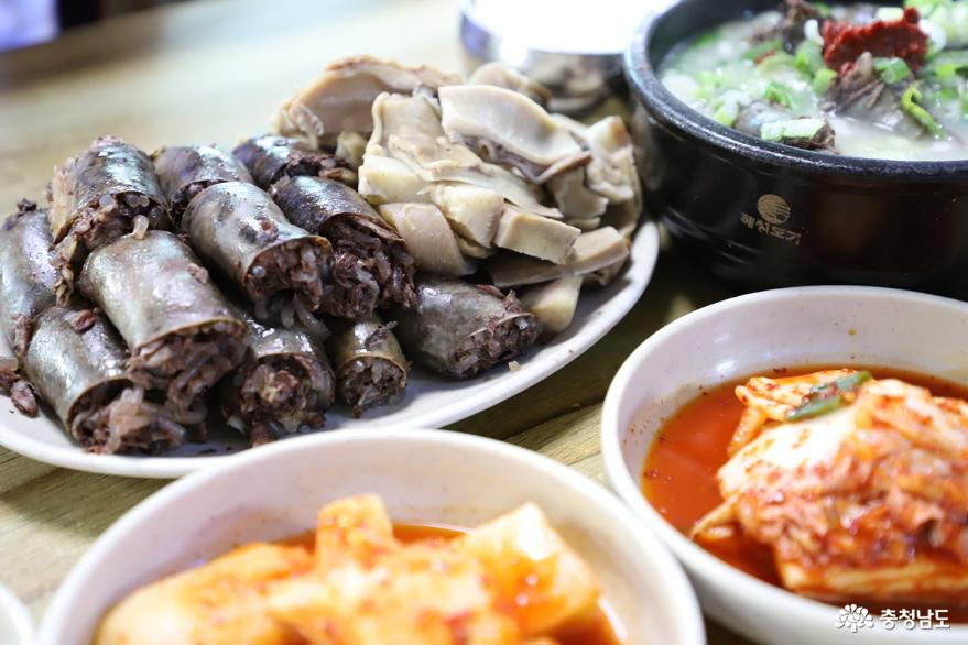 뜨끈하고 든든한 병천순대국밥