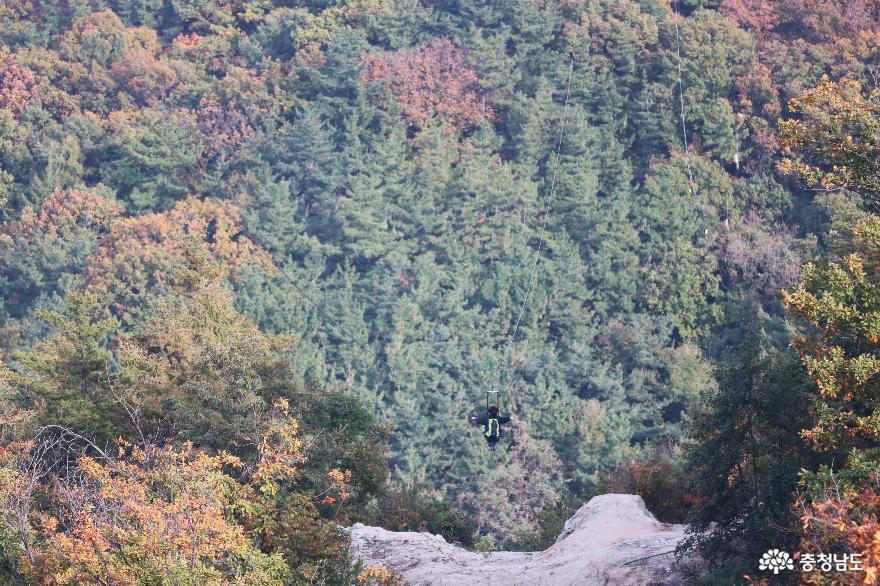 오색빛깔 가을 단풍과 해질녁 노을풍경이 예쁜  영인산 7