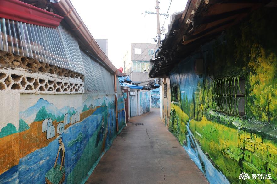 감성이 몽글몽글 피어나는 미나릿길 벽화마을 11