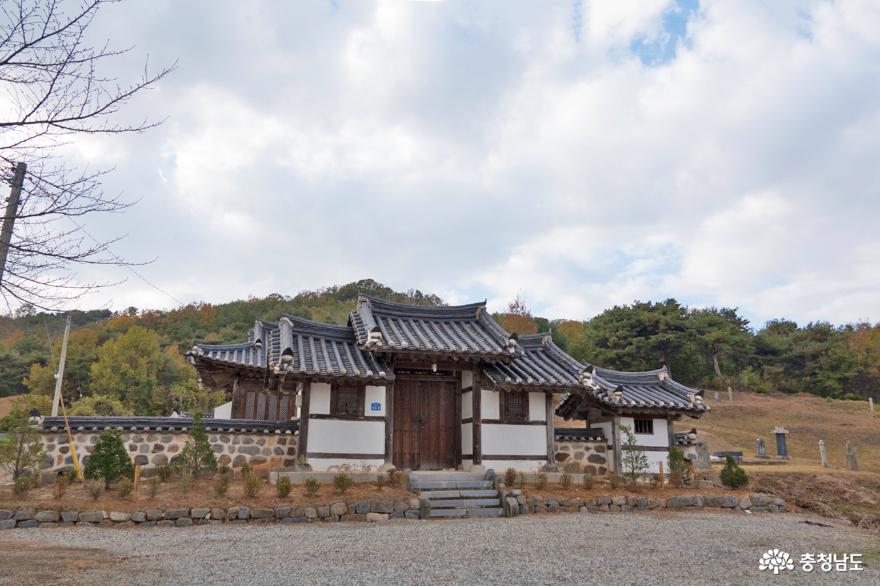 논산시 연산면 광산김씨 입향조 사당 숭원재