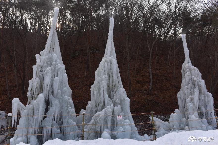 얼음 분수