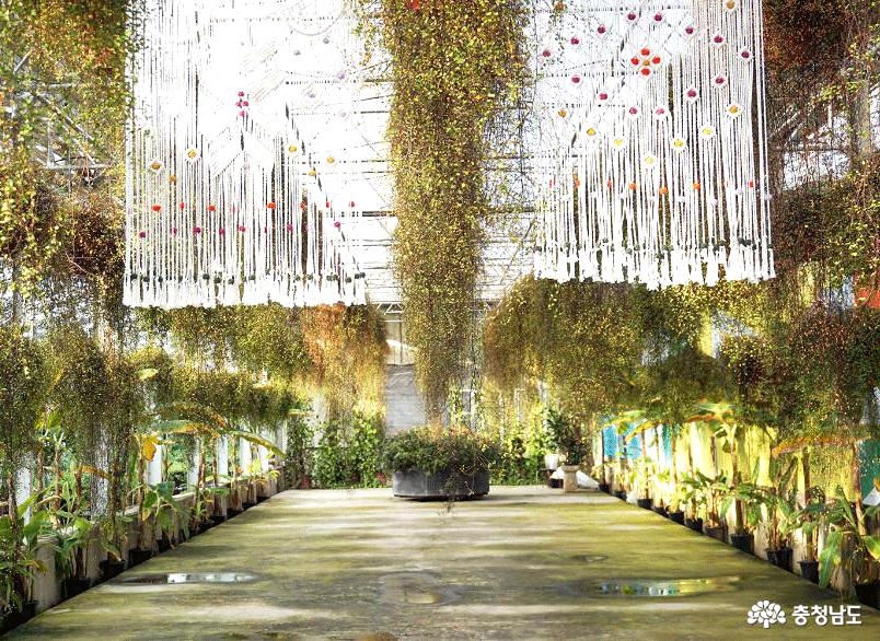 아산 세계꽃식물원 '마크라메 비밀정원'에 초대합니다