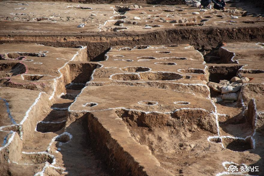 백제 웅진기 추정 왕궁지 발굴 현장