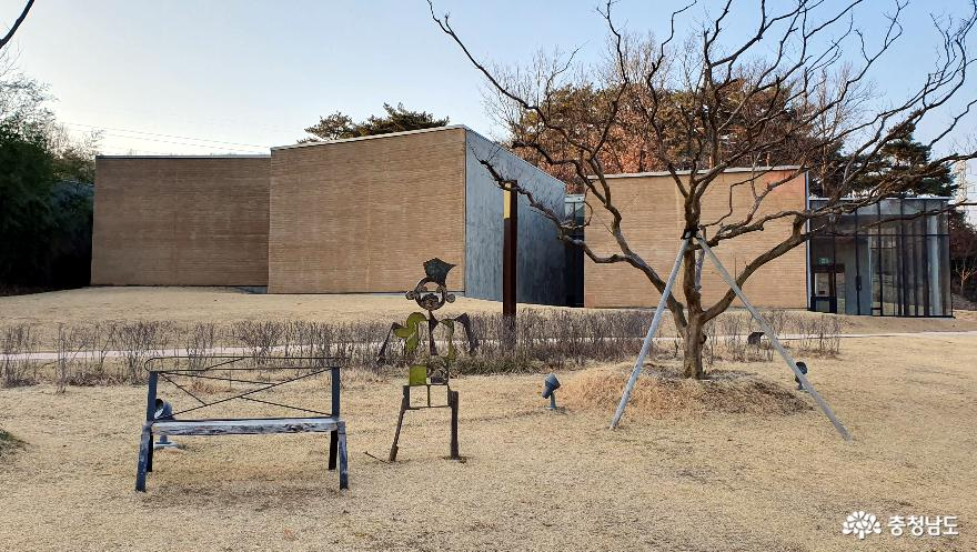 고암 이응노의 집 전경.