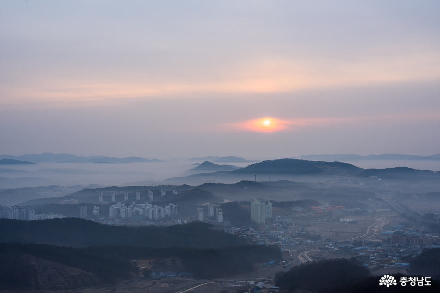 천안 일출명소 취암산에서 맞이한 설날 일출 사진