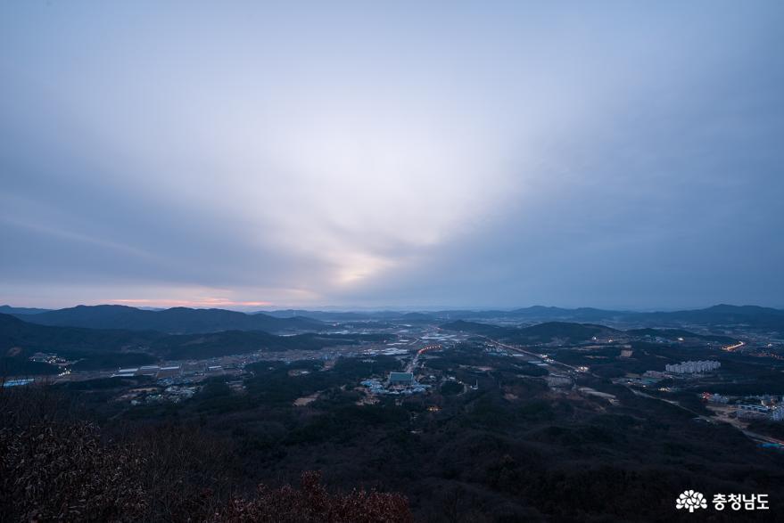 천안 일출명소 흑성산 전망대 겨울 아침 풍경