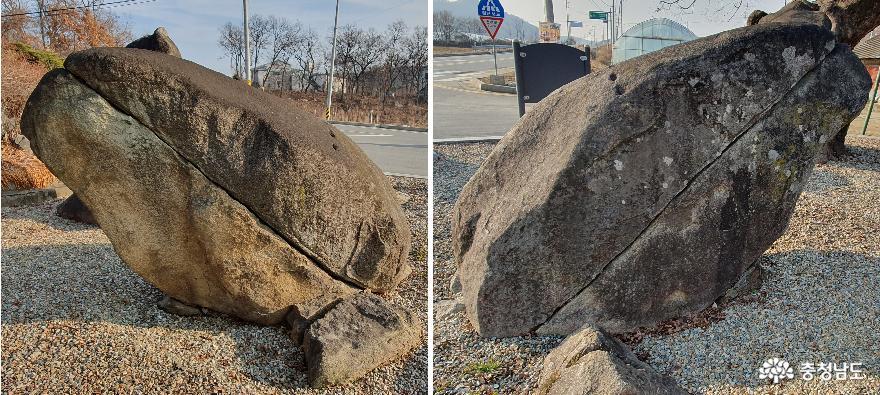충무공 김시민장군 유허비 인근의 거북바위.