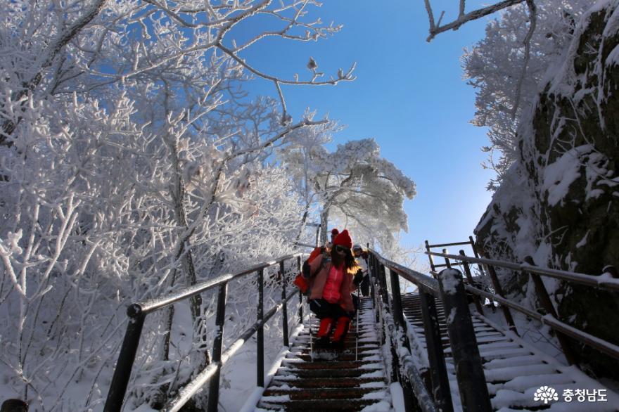 삼불봉 계단