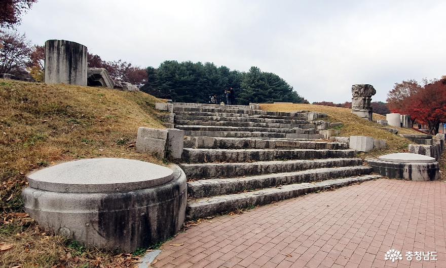 독립기념관 조선총독부 철거부재 전시공원 입구.