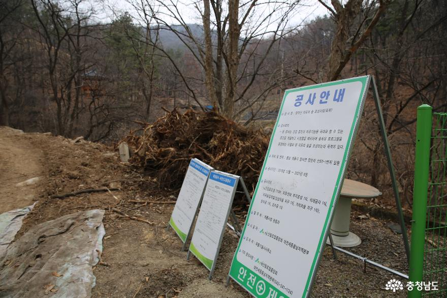 치유의 숲이 조성되고 있는 계룡 향적산과 무상사 3
