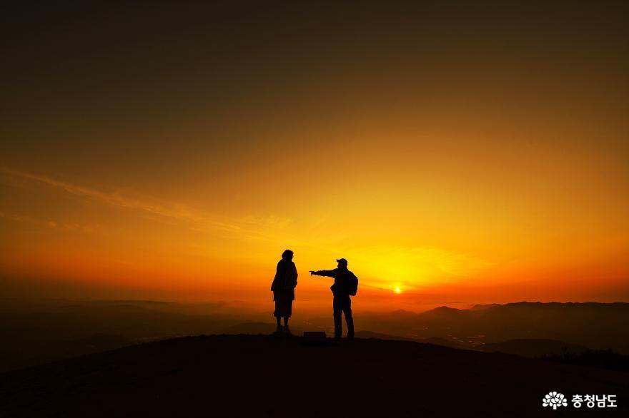 홍성 백월산에서 바라본 아름다운 풍경