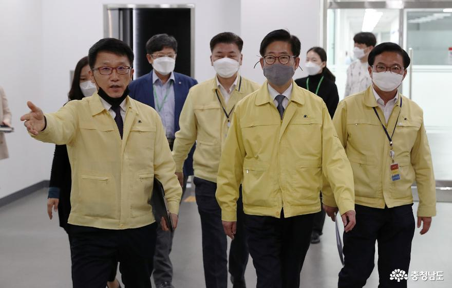 양승조 지사, 벨기에 외투기업 유미코아社 방문