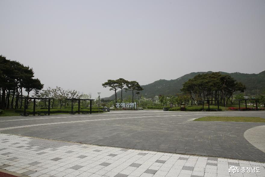 내포신도시의 중심공원 홍예공원을 걸으면서 생각합니다