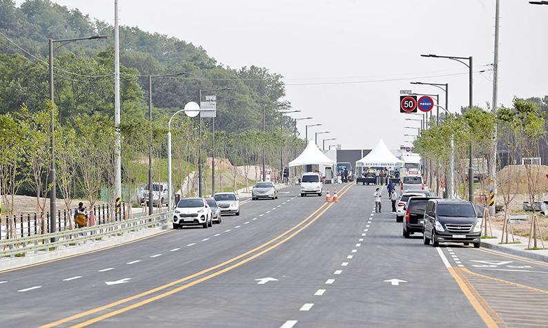 천안 LG생활건강 퓨처일반산단 도로 개통
