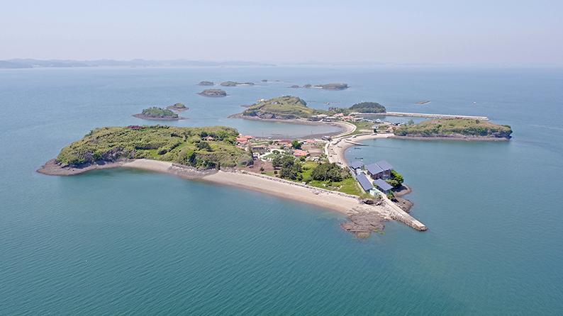 홍성 앞 바다 유일한 섬 죽도