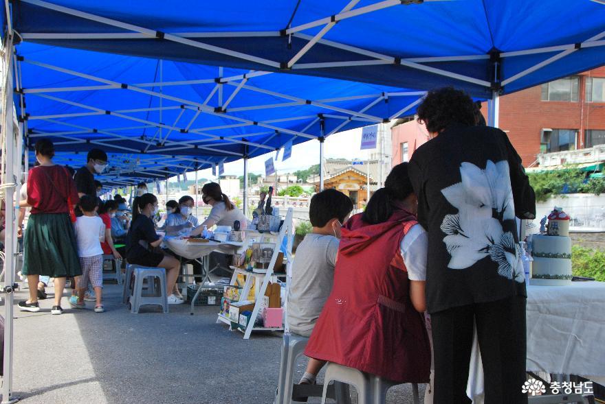 공주하숙마을에서 진행한 원도심살리미의 '하숙마을 공예파티'