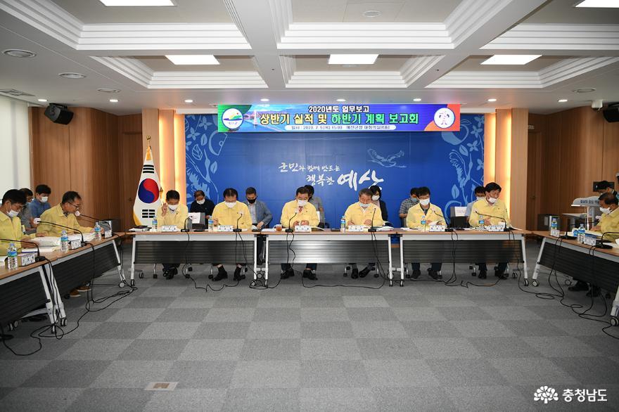 예산군, 2020년 상반기 추진실적 및 하반기 계획 보고회 개최!
