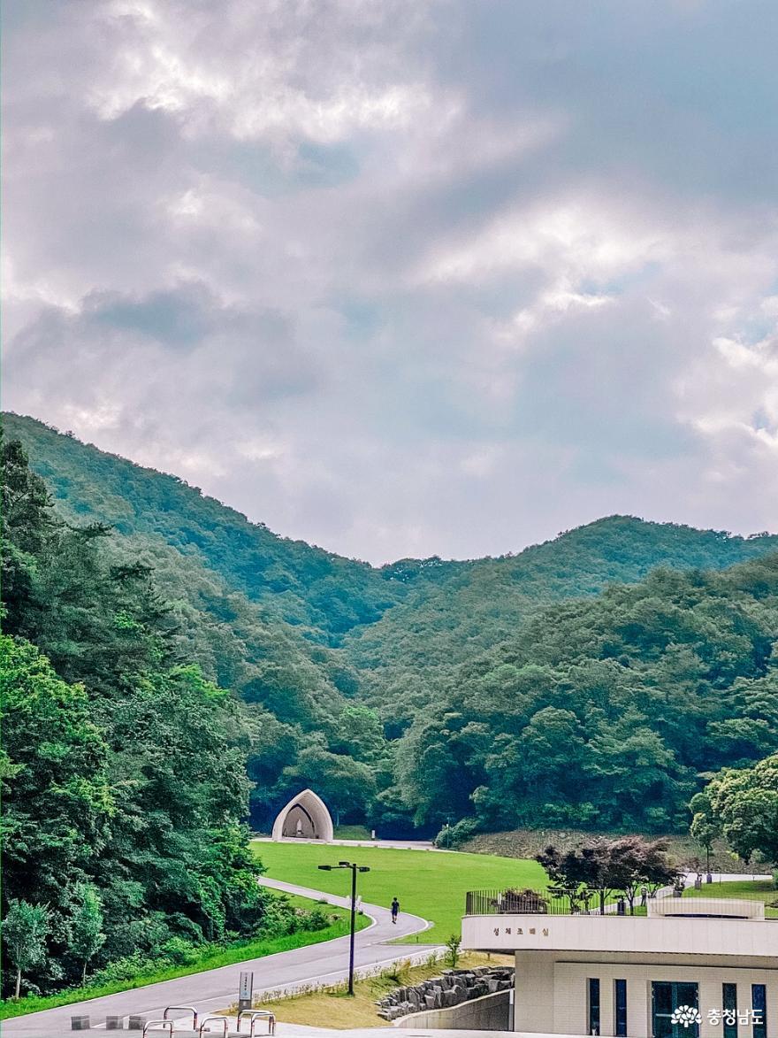 공주 비대면 안전한 여행지 수리치골 성지 사진
