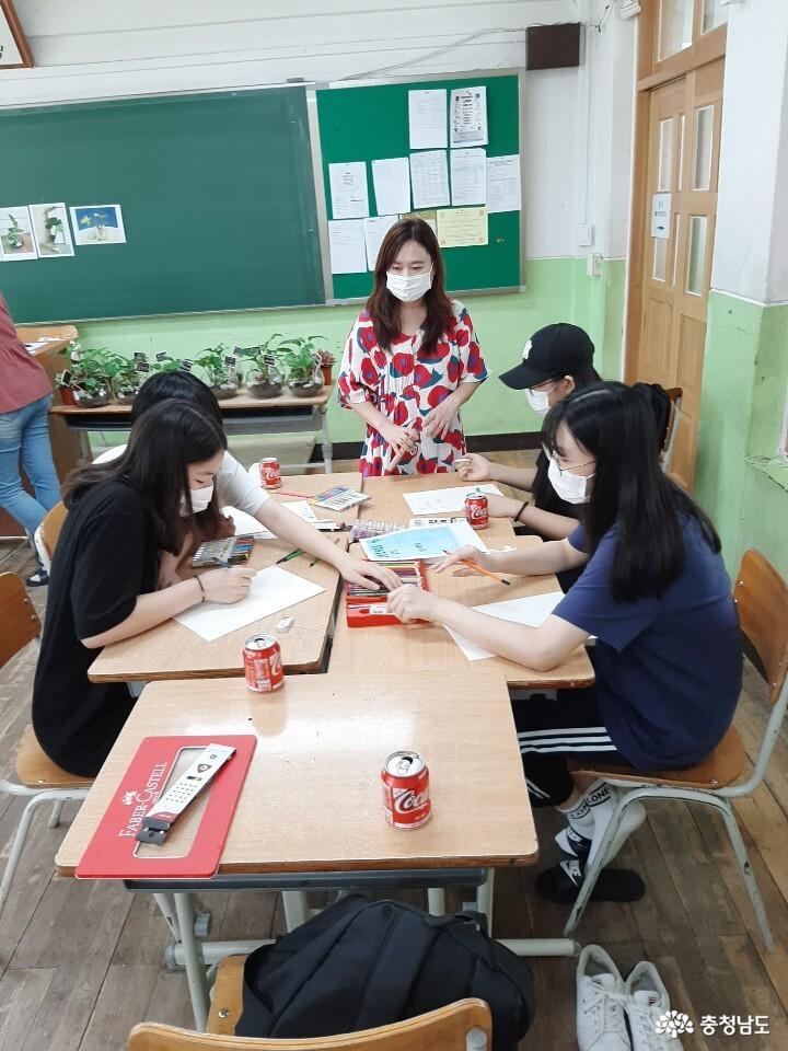 당진중학교에 식물공기청정기 바이오월이 설치되었어요 14