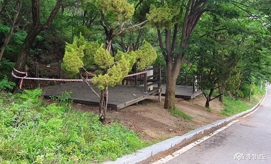 영인산 자연휴양림 캠핑장 A지구 일반테크 2.