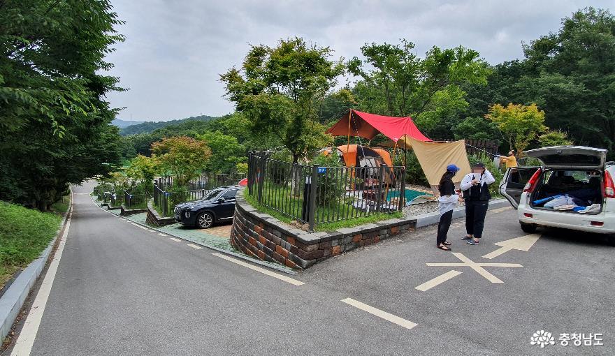 영인산 자연휴양림 캠핑장 B지구 자동차테크 2.