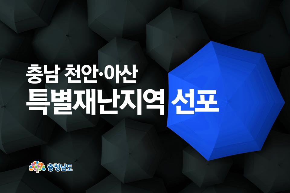 충남 천안아산 특별재난지역 선포