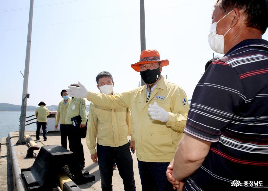 [사진기사] 가세로 태안군수, 제8호 태풍 '바비' 대비 주요시설 현장검검 나서!