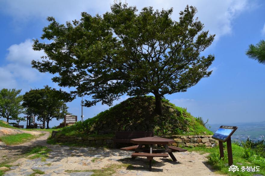 태안동문리마애삼존불입상과 백화산 사진