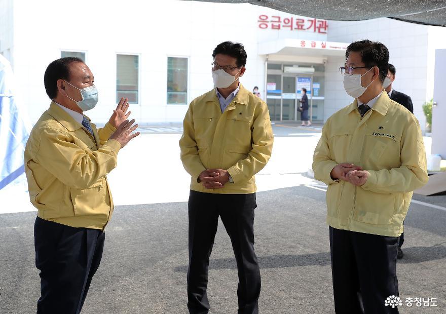양승조 지사, 추석 전 방역 집중 점검